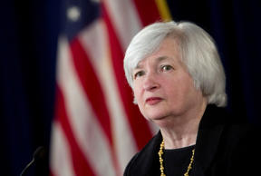 Janet Yellen, chair of the U.S. Federal Reserve, listens to a question during a news conference earlier this month.