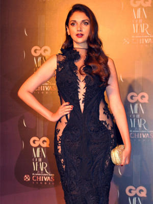 Bollywood actress Aditi Rao Hydari attends the GQ India Men of the Year Awards 2014 ceremony in Mumbai on September 28, 2014.