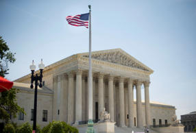 The Supreme Court building in Washington, Monday, June 30, 2014, following vario...