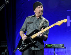 BEVERLY HILLS, CA - JANUARY 11: The Edge of U2 performs onstage at the 3rd annual Sean Penn & Friends HELP HAITI HOME Gala benefiting J/P HRO presented by Giorgio Armani at Montage Beverly Hills on January 11, 2014 in Beverly Hills, California. (Photo by Kevin Mazur/Getty Images for J/P Haitian Relief Organization)