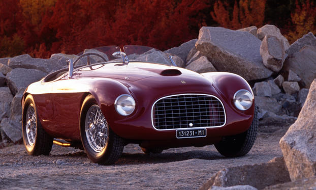 Slide 1 of 23: 1948 Ferrari 166 MM Touring Barchetta