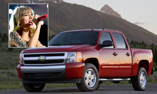 Slide 1 of 17: Taylor Swift/Chevrolet Silverado