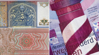 A collection of the most beautifully designed banknotes from around the world.