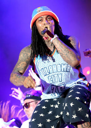 INDIO, CA - APRIL 18: Juaquin Malphurs aka Waka Flocka Flame performs onstage during day 1 of the 2014 Coachella Valley Music & Arts Festival at the Empire Polo Club on April 18, 2014 in Indio, California