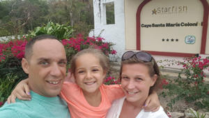 Ben Nanton in Cuba with his daughter, Gracie, and his girlfriend, Jill Hudson.