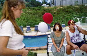 Lindsey, 18, at a 1993 July 4th party in Calabasas, Calif., three days after her nose job. Five of her close friends at Calabasas High School had already undergone plastic surgery.