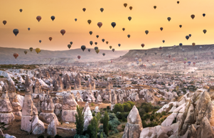 Cappadocia is known around the world as one of the best places to fly with hot air balloons. Goreme, Cappadocia, Turkey