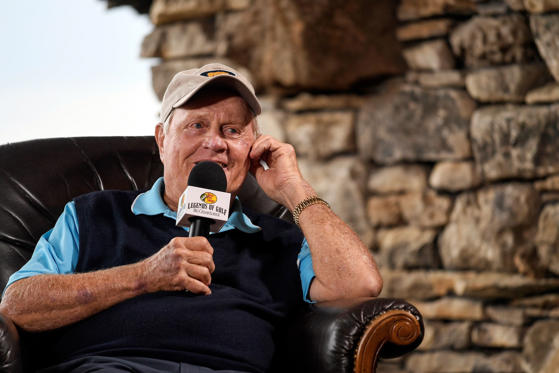 Slide 1 of 77: Jack Nicklaus speaks during a press conference for the PGA TOUR Champions Bass Pro Shops Legends of Golf at Big Cedar Lodge on April 20, in Ridgedale, Missouri.