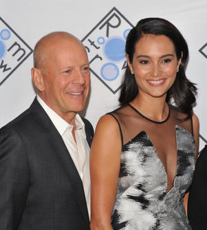 Room to Grow's Annual Spring Benefit, Arrivals, New York, USA - 05 Apr 2017 Bruce Willis and Emma Heming