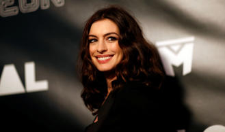 "Cast member Anne Hathaway poses at the premiere of the movie ""Colossal"" in Los Angeles"