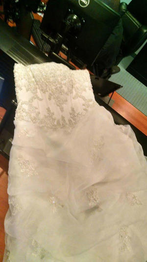 The dress was found on Bridle Road in Billerica about 6:45 p.m. Wednesday night.