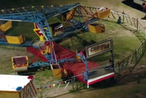 Eugene Mahauariki fell from the ride at a carnival in Rye, on the Mornington Peninsula, on Easter Monday.