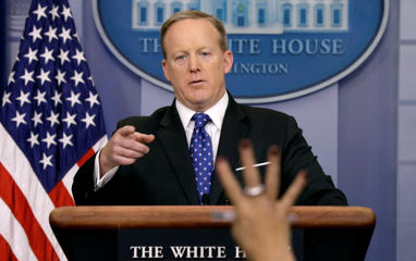 There have been rumors that Press Secretary Sean Spicer may lose his job.