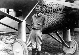American aviator, Charles A. Lindbergh astounded the world on May 21, 1927 by landing in Paris after a solo, nonstop transatlantic flight in the Spirit of St. Louis from New York.