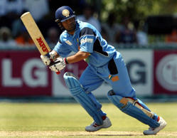 INDIA'S SACHIN TENDULKAR FLICKS A BALL DURING A MATCH IN PIETERMARITZBURG