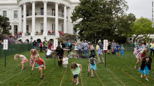 White House prepares for Easter Egg Roll
