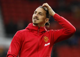 File: Manchester United's Zlatan Ibrahimovic before the Premier League match at Old Trafford, Manchester.