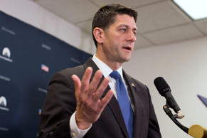 House Speaker Paul Ryan of Wis. speaks during a news conference after a GOP cauc...