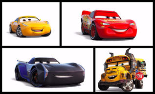 "We recently had a chance to screen about 40 minutes of Cars 3, the upcoming installment in Pixar's anthropomorphic-automobile saga. The good news is that, after the uneven, Mater-centric detour of the second movie, the focus is squarely back on what the series did best in the first film: weave a rich tapestry of automotive nerdery and idyllic Americana set against the backdrop of stock-car racing. In the new film, the Last Great American Hero makes an appearance as Junior Moon, a home-brew ""fuel"" runner turned early racer. Nico Rosberg's favorite guy, Lewis Hamilton, makes his second appearance in a Cars picture, this time as Lightning McQueen's J.A.R.V.I.S.-like digital assistant, and the whole wacky gang from Radiator Springs returns—even the late Paul Newman's Doc Hudson gets some screen time. Fresh on the scene are Cristela Alonzo's Cruz Ramirez, the trainer who helps whip Lightning back into shape after a brutal crash; McQueen's younger nemesis, Jackson Storm (Armie Hammer); and Nathan Fillion as Sterling, Lightning's new team owner.Click through for a look at both new characters from the film, as well as fresh renderings of old favorites."