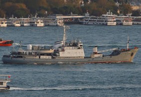 Russian Navy's reconnaissance ship Liman of the Black Sea fleet. (File pic)