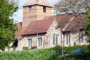 Travellers were on the site near the picturesque St Nicholas Church in Laindon, Essex for less that five days (Photo: Eastnews Press Agency)