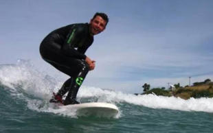 Darren Mills said he had not been back surfing since the attack three years ago