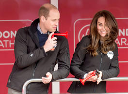 Catherine, Duchess of Cambridge and Prince William, Duke of Cambridge at the blu...