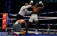 Anthony Joshua (right) in action against Wladimir Klitschko during their IBF, WBA and IBO Heavyweight World Title bout at Wembley Stadium, London.