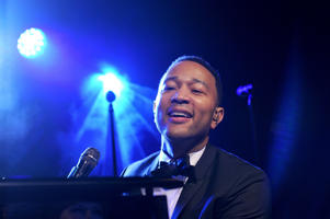 Singer John Legend performs at the MOCA Gala 2017 honoring Jeff Koons at The Geffen Contemporary at MOCA on April 29, 2017 in Los Angeles, California.