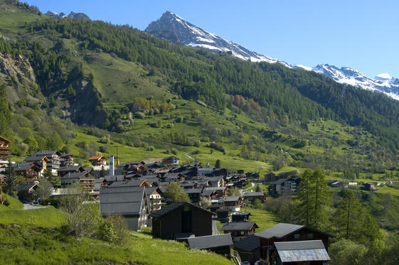 Slide 1 of 23: Village in the Swiss alps