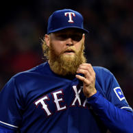 Texas Rangers starting pitcher Andrew Cashner