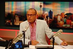 Paul Henry hosting  his morning show.