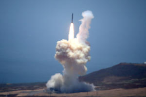 The Ground-based Midcourse Defense (GMD) element of the U.S. ballistic missile defense system launches during a flight test from Vandenberg Air Force Base, California, U.S., May 30, 2017.
