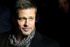 "Actor Brad Pitt arriving at the premiere of the film ""Allied"" in Madrid"