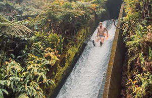 Waipio Valley waterslide in Hawaii