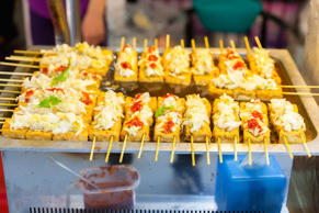 Stinky fermented tofu with pickled cabbage and hot sauce is popular in Taiwan......