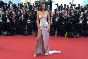 CANNES, FRANCE - MAY 17:  Bella Hadid attends the 'Ismael's Ghosts (Les Fantomes d'Ismael)' screening and Opening Gala during the 70th annual Cannes Film Festival at Palais des Festivals on May 17, 2017 in Cannes, France.  (Photo by Pascal Le Segretain/G