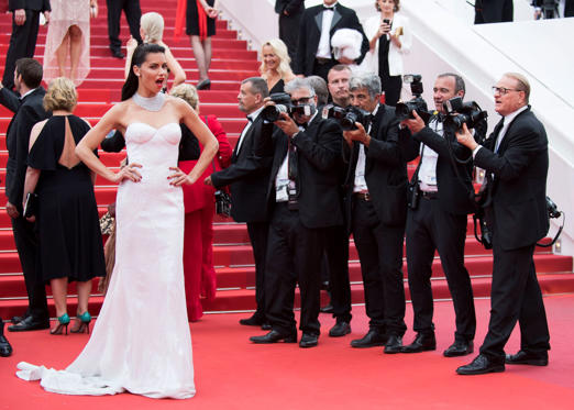 Slide 1 of 14: Adriana Lima poses for photographers upon arrival at the screening of the film Loveless at the 70th international film festival, Cannes, southern France, Thursday, May 18, 2017. (Photo by Arthur Mola/Invision/AP)
