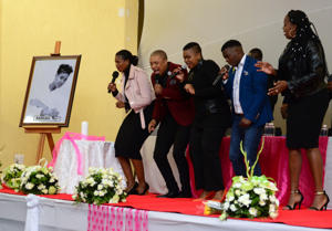 A performance during the memorial service of slain Karabo Mokoena at the Diepkloof Multipurpose Centre on May 17, 2017 in Soweto, South Africa. The 22-year-old Karabo Mokoena's body was found burnt beyond recognition in in Bramley, Johannesburg, on April 29 – two days after her disappearance.