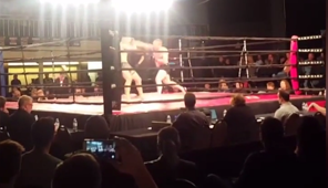 MMA fighter knocks other fighter out