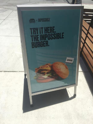 It's only available in the US but there are plans for the Impossible Burger to come to the UK
