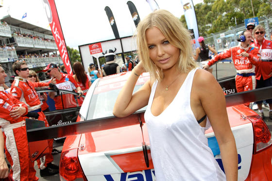 Slide 1 of 56: SYDNEY, AUSTRALIA - DECEMBER 04: Model Lara Bingle  attends the Sydney 500 V8 Supercars Qualifying and Race 25 event at Sydney Olympic Park Sports Centre on December 4, 2010 in Sydney, Australia.  (Photo by Mike Flokis/Getty Images)