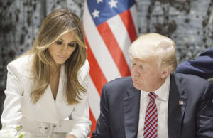 Donald Trump and Melania Trump visit Jerusalem on May 22, 2017.