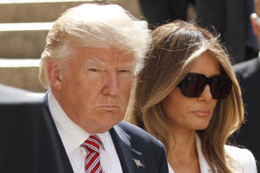 Donald Trump and Melania Trump visit the Church of the Holy Sepulchre, Monday, May 22, 2017, in Jerusalem.