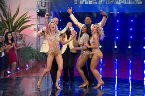 "Dancing With the Stars - ""Episodes 2411"" -Finals Lindsay Arnold, David Ross, Valentin Chmerkovskiy, Normani Kordei, Rashad Jennings, Emma Slater"