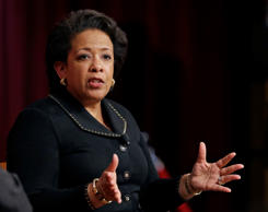 FILE: Former U.S. Attorney General Loretta Lynch, the nation's first black woman...