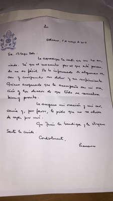 """El papa Francisco le envió una carta a Milagro Sala: """"Deseo que todo se resuelva bien y pronto"""""""