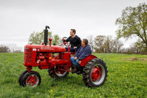 Mark Zuckerberg visited the Gant family on their farm in Blanchardville, Wisconsin, in April.