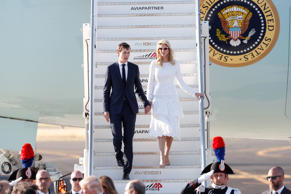 White House senior advisor Jared Kushner and his wife Ivanka Trump arrive at the...
