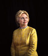 Clinton backstage at an event in May.
